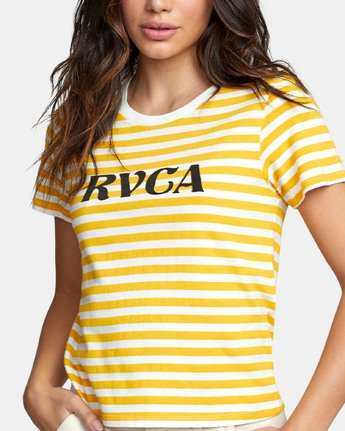 4 MURPHY STRIPED T-SHIRT White W4471RMU RVCA
