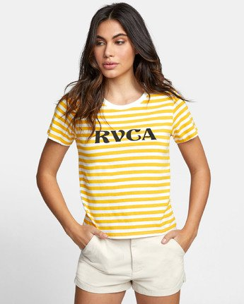 0 MURPHY STRIPED T-SHIRT White W4471RMU RVCA