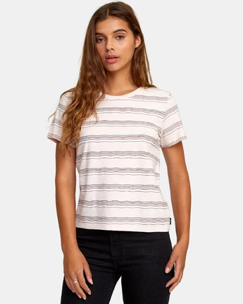1 Wavy Striped Baby T-Shirt Grey W447WRWA RVCA