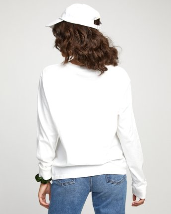 1 FLORA LONG SLEEVE T-SHIRT White W4523RFL RVCA