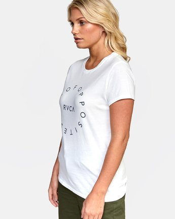 2 OFF BALANCE TEE White W4532ROB RVCA