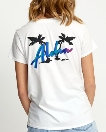 3 ALOHA RAINBOW SHORT SLEEVE T-SHIRT White W4533RAR RVCA