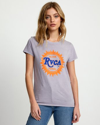 0 SUNBURST ALOHA SHORT SLEEVE T-SHIRT Multicolor W4533RSA RVCA