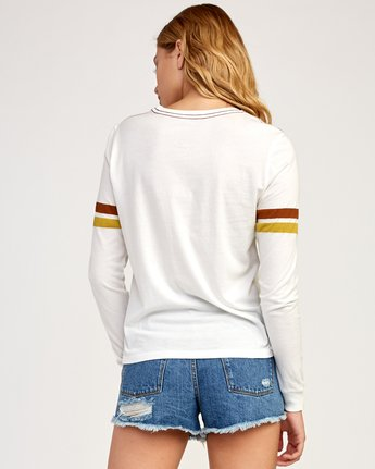 2 Bow-Tied Long Sleeve T-Shirt White W456TRBO RVCA