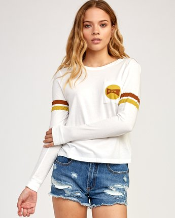 0 Bow-Tied Long Sleeve T-Shirt White W456TRBO RVCA