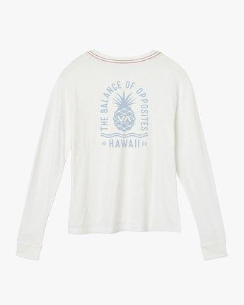 1 Rising Pineapple Long Sleeve T-Shirt White W456URRP RVCA
