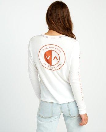 4 Split Up Long Sleeve Pocket T-Shirt White W456URSP RVCA