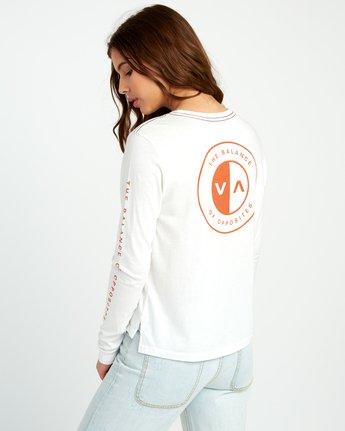 2 Split Up Long Sleeve Pocket T-Shirt White W456URSP RVCA