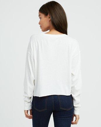 2 Mod Stripe Knit T-Shirt White W458SRMO RVCA