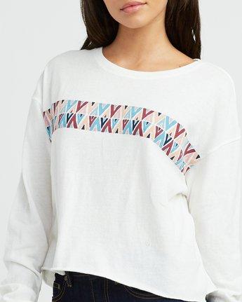 3 Mod Stripe Knit T-Shirt White W458SRMO RVCA