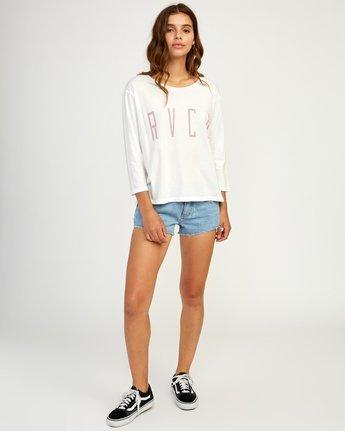 4 Stilt Long Sleeve T-Shirt White W463TRST RVCA
