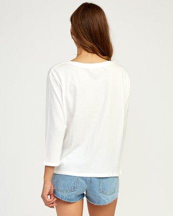 2 Stilt Long Sleeve T-Shirt White W463TRST RVCA