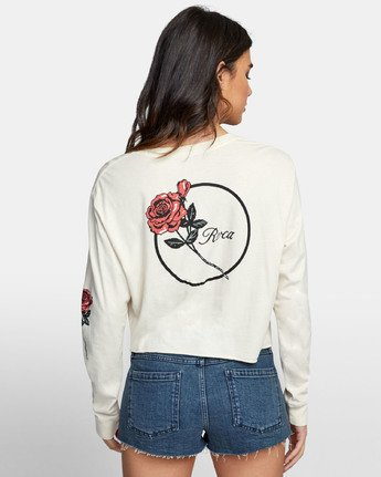 3 THORNS LONG SLEEVE BOYFRIEND T-SHIRT  W4671RTH RVCA