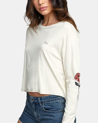 4 THORNS LONG SLEEVE BOYFRIEND T-SHIRT  W4671RTH RVCA