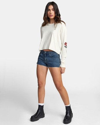 1 THORNS LONG SLEEVE BOYFRIEND T-SHIRT  W4671RTH RVCA