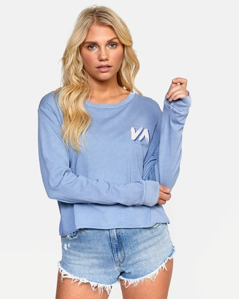 0 JETFRAME LONG SLEEVE BOYFRIEND TEE Purple W4672RJF RVCA