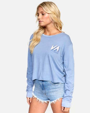 3 JETFRAME LONG SLEEVE BOYFRIEND TEE Purple W4672RJF RVCA