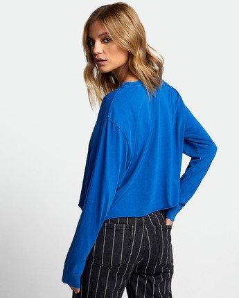 3 Inner Opposites Long Sleeve T-Shirt Blue W467VRIN RVCA