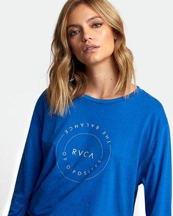 4 Inner Opposites Long Sleeve T-Shirt Blue W467VRIN RVCA