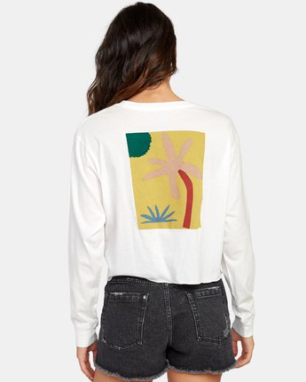 2 Breezy Long Sleeve Boyfriend T-Shirt White W467WRBR RVCA