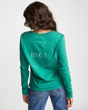 1 ENCIRCLED LONG SLEEVE T-SHIRT Brown W4683REC RVCA