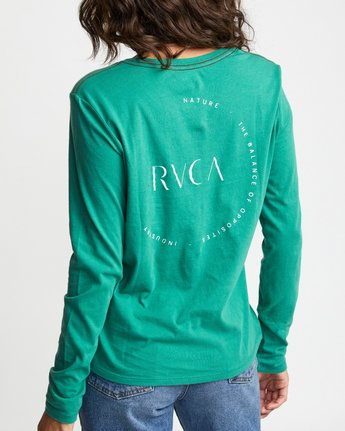 5 ENCIRCLED LONG SLEEVE T-SHIRT Brown W4683REC RVCA