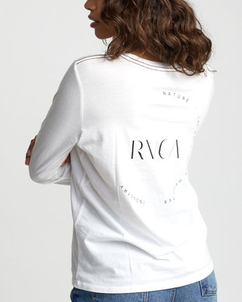 6 ENCIRCLED LONG SLEEVE T-SHIRT White W4683REC RVCA