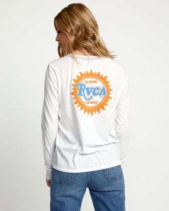 2 SUNBURST ALOHA LONG SLEEVE T-SHIRT White W4683RSA RVCA