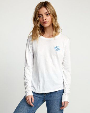 1 SUNBURST ALOHA LONG SLEEVE T-SHIRT White W4683RSA RVCA