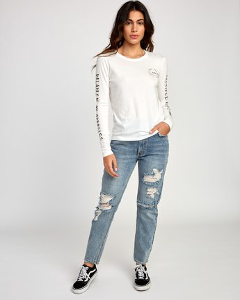 4 Hortonsphere Long Sleeve T-Shirt White W468VRHO RVCA