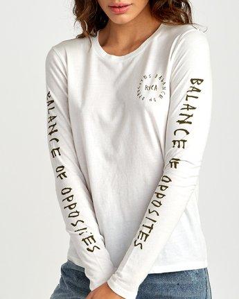 3 Hortonsphere Long Sleeve T-Shirt White W468VRHO RVCA