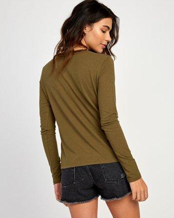 2 Merikesh Long Sleeve T-Shirt Green W468VRME RVCA