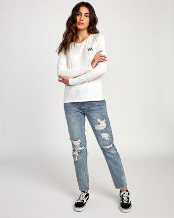 4 Paradise Long Sleeve T-Shirt White W468VRPH RVCA