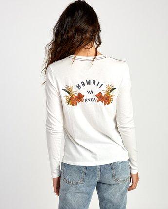 3 Paradise Long Sleeve T-Shirt White W468VRPH RVCA