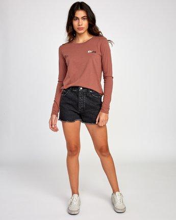 4 Teared Long Sleeve T-Shirt Brown W468VRTE RVCA