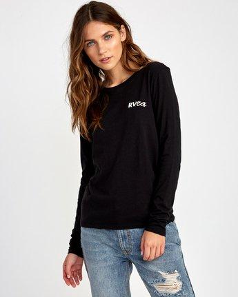 1 Teared Long Sleeve T-Shirt Black W468VRTE RVCA