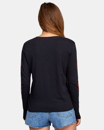 2 Bloom Long Sleeve T-Shirt Black W468WRBL RVCA