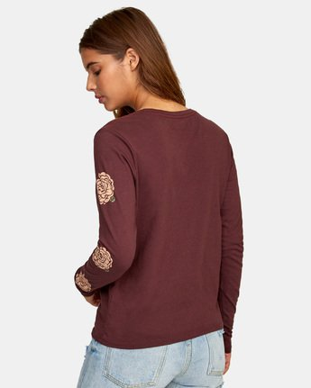 4 Bloom Long Sleeve T-Shirt  W468WRBL RVCA