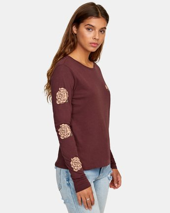 2 Bloom Long Sleeve T-Shirt  W468WRBL RVCA