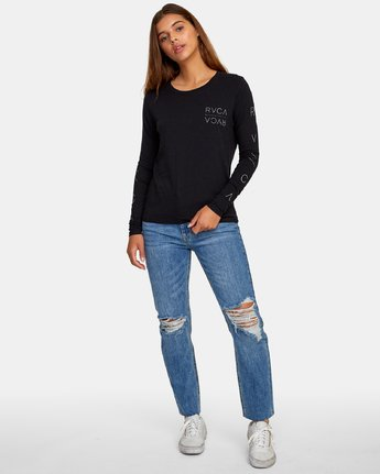 4 Century Long Sleeve T-Shirt Black W468WRCE RVCA