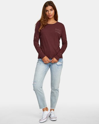4 Century Long Sleeve T-Shirt Brown W468WRCE RVCA