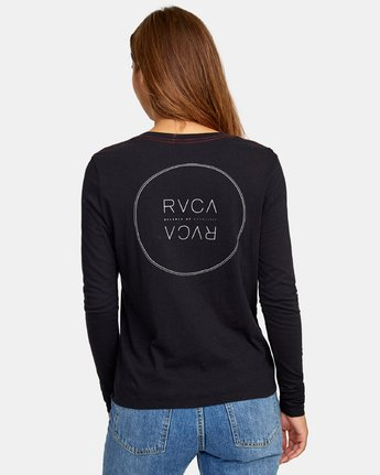 3 Century Long Sleeve T-Shirt Black W468WRCE RVCA
