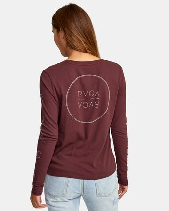 3 Century Long Sleeve T-Shirt Brown W468WRCE RVCA