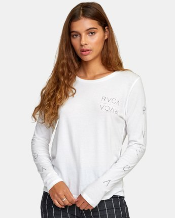 0 Century Long Sleeve T-Shirt White W468WRCE RVCA