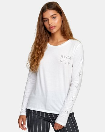 1 Century Long Sleeve T-Shirt White W468WRCE RVCA