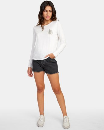 4 Death Valley Long Sleeve T-Shirt White W468WRDE RVCA