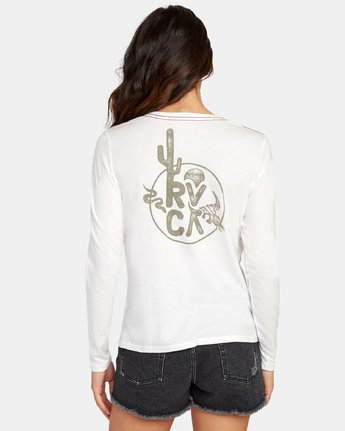 2 Death Valley Long Sleeve T-Shirt White W468WRDE RVCA