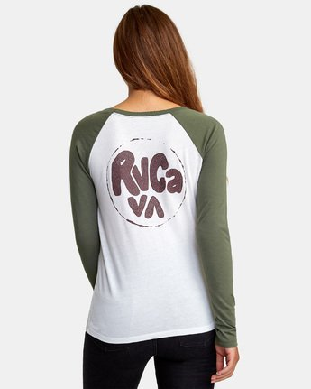 4 Getz Raglan Baseball T-Shirt  W469WRGE RVCA