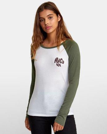 2 Getz Raglan Baseball T-Shirt  W469WRGE RVCA