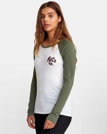 3 Getz Raglan Baseball T-Shirt  W469WRGE RVCA